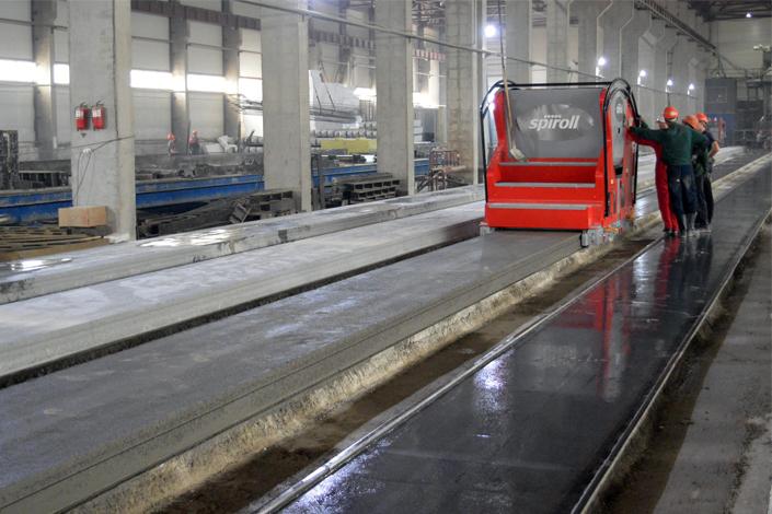 Spiroll's Vortex Extruder in RegionStroy Factory Kazakhstan.